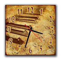 """Настенные часы """"Клавиши"""" классный подарок музыканту 30х30 см"""