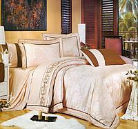 Комплект постельного белья шелковый жаккард La scala 3D-080