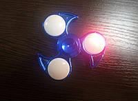 Fidget Spinner-игрушка антистресс, Сюрикен неон синий святящийся
