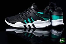 Мужские кроссовки  Nike Air Presto черно-зеленые топ реплика , фото 2