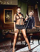 Эротический игровой (карнавальный) BACI Игровой костюм «Идеальный секретарь» 2-piece Black secretary costume