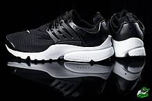 Мужские кроссовки  Nike Air Presto черно-белые топ реплика , фото 2
