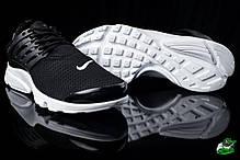 Мужские кроссовки  Nike Air Presto черно-белые топ реплика , фото 3