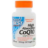 Коэнзим Q10 с высокой степенью поглощения, с биоперином, 100 мг, 60  капсул, Doctor's Best, CoQ10