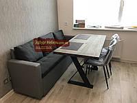 Диван для вузької кухні з підлокітниками, фото 1