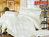 Комплект постельного белья шелковый жаккард La scala 3D-085