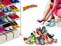 Стойка подставка для обуви 4 полки 12 пар Stackable Shoe Rack