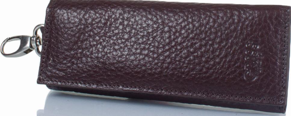 Ключница из кожи флотар GRASS SHI515-9 коричневая