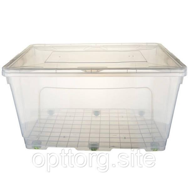 Контейнер пищевой пластиковый -с крышкой BigBox №3 -80 л