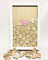 Сердечки в рамке для пожеланий с покраской