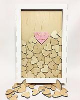 Рамка для пожеланий с сердечками (с гравировкой и покраской), фото 2
