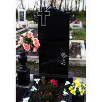 Памятник гранитный одинарный с крестом, фото 1