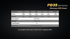 Фонарь Fenix PD35 Cree XM-L2, фото 2