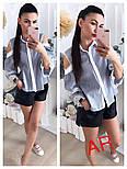 Женская красивая блуза с открытыми плечиками и кружевными вставками (в расцветках), фото 3