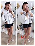 Женская красивая блуза с открытыми плечиками и кружевными вставками (в расцветках), фото 2