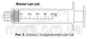 Шприц 3-х компонентный, 2 мл., Luer Lock, с иглой 23G (0,6 мм. х 30 мм.), фото 2