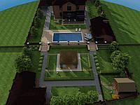 Дизайн-прект участка частного дома