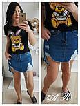 """Женская футболка """"Заяц с пайетками"""" (3 цвета), фото 2"""