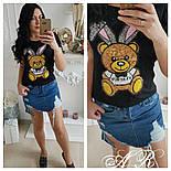 """Женская футболка """"Заяц с пайетками"""" (3 цвета), фото 3"""