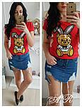 """Женская футболка """"Заяц с пайетками"""" (3 цвета), фото 4"""