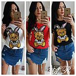 """Женская футболка """"Заяц с пайетками"""" (3 цвета), фото 6"""
