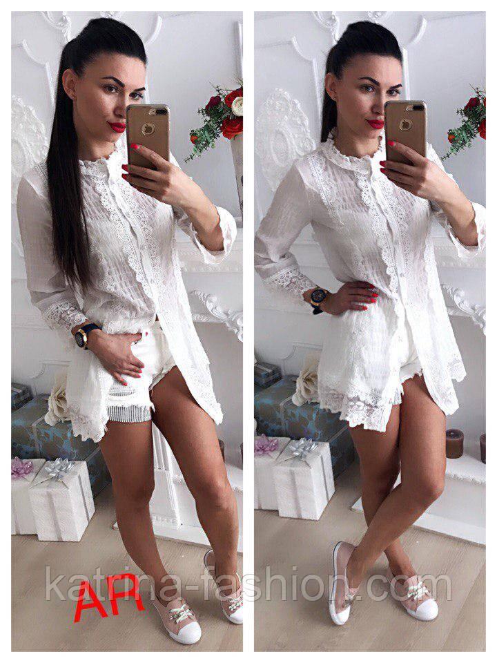 Женская стильная рубашка-туника (2 цвета)