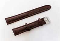 Кожаный ремешок для часов Italian IT1801BR-04 18 мм (Италия) | Коричневый
