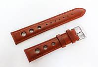 Кожаный ремешок для часов Italian IT2000BR-02 20 мм (Италия) | Коричневый