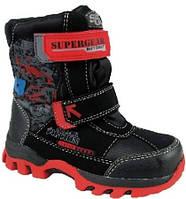 Детские зимние термоботинки Super Gear B195 black (24-29р)