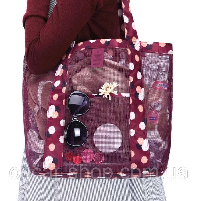 227eef75c2fa Летняя сумочка для пляжа прорезиненная, красная / Сумка пляжная / Летняя  сумка / опт