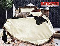 Комплект постельного белья шелковый жаккард La scala 3D-102