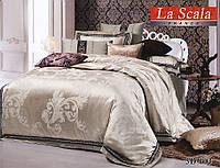 Комплект постельного белья шелковый жаккард La scala 3D-103