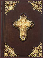 Библия с филигранью, гранатами, золото 17х23 см