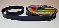 Косая бейка кожзам 2 см - цвет темно-синий