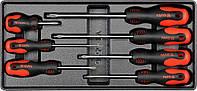 Набор отверток (PH0x100, PH1x75, PH1x100, PH2x38, PH2x100, PH2x150, PH3x150)мм, 7шт,  YATO  YT-5536