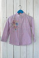 Полосатая рубашка со стразами на девочку. Размеры: 116-146