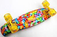 Penny Board Скейтборд CARAMEL Cветящиеся колеса