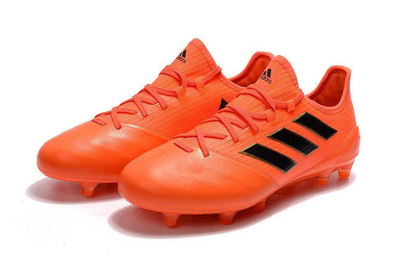 9cd6f608 Футбольные бутсы adidas Ace 17.1 Leather FG Solar Orange/Core Black/Solar  Red -