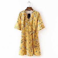 Желтое платье халат, фото 1
