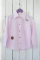 Оригинальная детская рубашка в полосочку, с ярким принтом