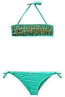 Детский раздельный купальник для девочки Бирюза