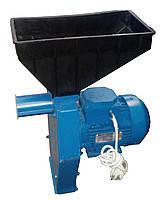 Зернодробарка Эликор-3 - кормоізмельчітель зерна і качанів кукурудзи з українським двигуном, фото 1