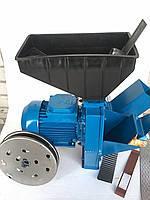 Зернодробилка Эликор - кормоизмельчитель зерна, травы и корнеплодов (исп 4) с украинским двигателем