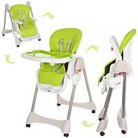 Детский стульчик для кормления Bambi (M 3216-2-5) ЗЕЛЕНЫЙ