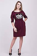 Бордовое платье футляр 135