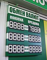 Несветовое информационное табло курсов валют с переворотными сегментами