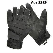 Тактичні рукавички чорні Blackhawk