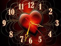 """Красивые настенные часы """"Люблю!"""" признание в любви"""