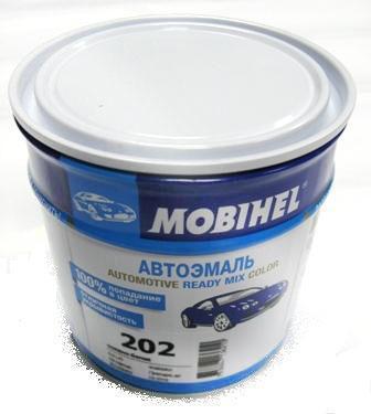 Автокраска 202 Белая Helios Mobihel алкидная 0,6л