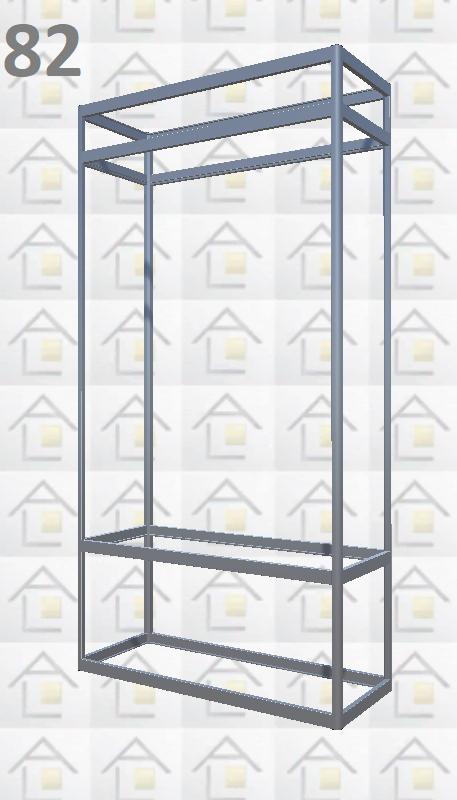 Конструктор (каркас) витрины № 82 из алюминиевого профиля (2578)1449,2576,2721
